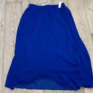 NWT Old Navy Maxi Skirt - Royal Blue
